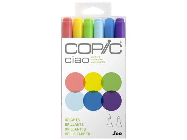 COPIC® ciao Marker 6er Set / Brights