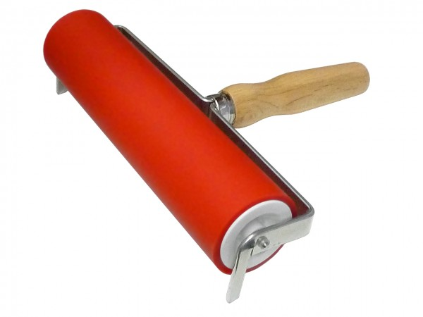 Farbwalze rot, Rollenbreite 12 cm