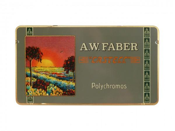 Farbstifte Polychromos, RETRO EDITION Set mit 12 Farben in Metallschachtel