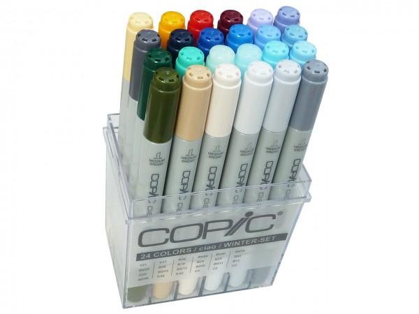 COPIC® ciao Marker, Set mit 24 Winterfarben