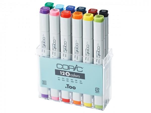 COPIC® Marker, Set B mit 12 Grundfarben
