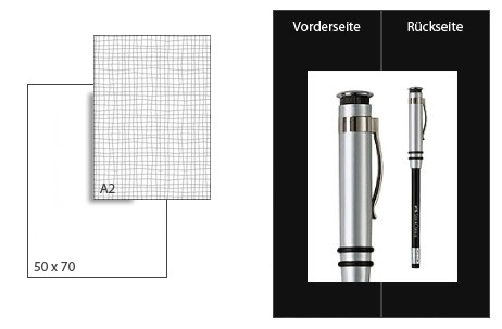 Präsentationskarton DuoChart 4 / Format A2 / 10 Bogen / schwarz-schwarz