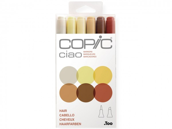 COPIC® ciao Marker 6er Set / Hair