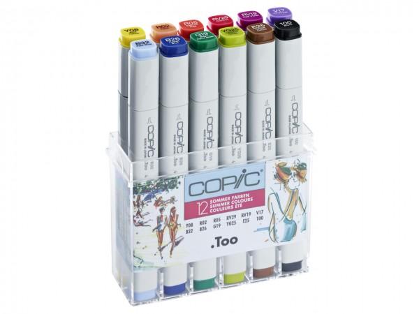 COPIC® Marker, Set mit 12 Sommerfarben