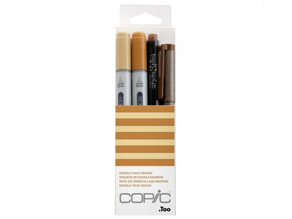 COPIC® ciao Marker 4er Set / Doodle Pack Brown