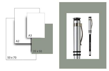 Präsentationskarton SeriTone 2 / Format 35 x 50 cm / 50 Bogen / mittelgrau-weiss