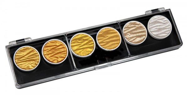 """Pearl Color Set """"Gold/Silber"""" mit 6 Farben"""
