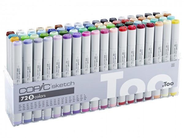 COPIC® sketch Marker, Set B mit 71 Farben + Blender