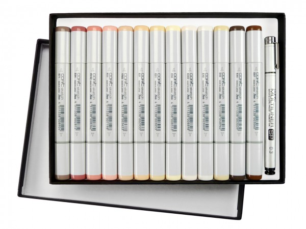 COPIC® sketch Marker Geschenkset, Hautfarben