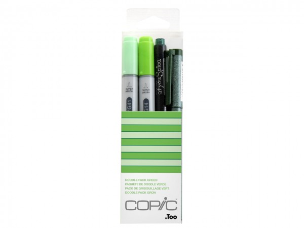 COPIC® ciao Marker 4er Set / Doodle Pack Green