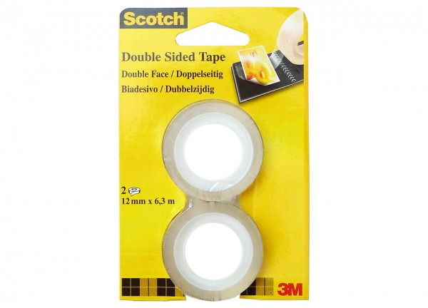 Scotch Double Coated Tape 665 / 12 mm x 6.3 m Refill