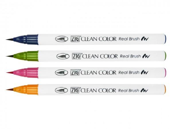ZIG® Clean Color Real Brush Pen 4er-Set