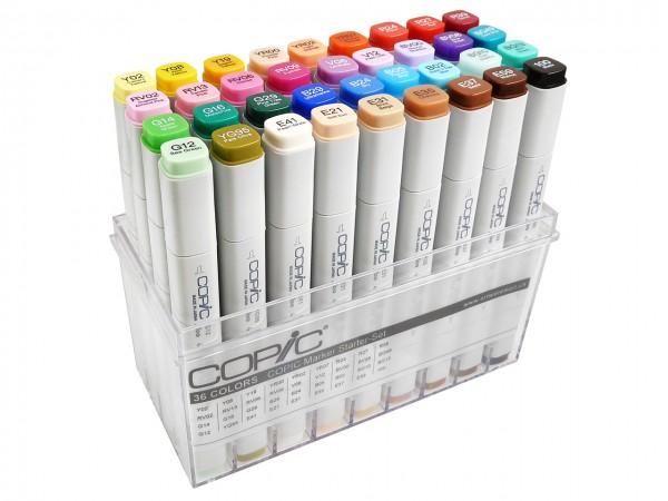 COPIC® Marker, Unser Starter-Set mit 36 Farben