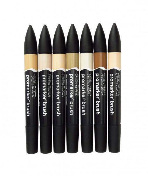 promarker Brush von Winsor& Newton / Hautfarben-Set