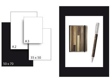 Präsentationskarton SeriTone 4 / Format 50 x 70 cm / 10 Bogen / schwarz-weiss