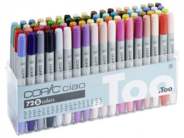 COPIC® ciao Marker, Set B mit 72 Farben