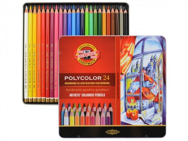 Farbstifte Polycolor, Metallschachtel mit 24 Farben