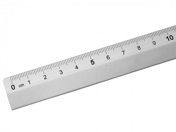 Schulmassstab aus Aluminium / 30 cm