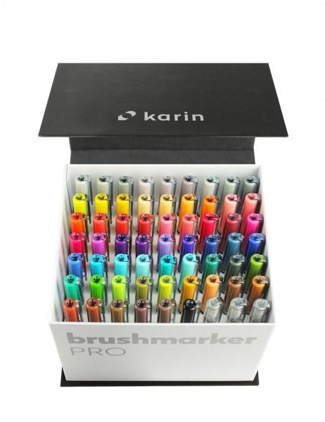 Karin Brushmarker PRO Set mit 60 Farben + 3 Blender