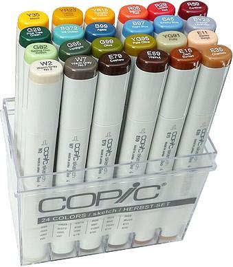 COPIC® sketch Marker, Set mit 24 Herbstfarben