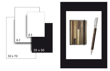 Präsentationskarton SeriTone 4 / Format 35 x 50 cm / 50 Bogen / schwarz-weiss