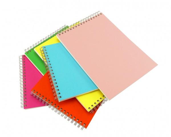 Skizzenbücher handgemacht in der Schweiz, A5 quer, Frühlingsfarben