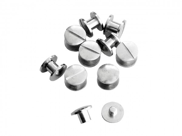 Buchschrauben silber 5 mm / Pack mit 10 Stück