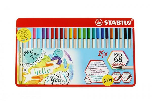 Stabilo® Pen 68 brush, 25er Set