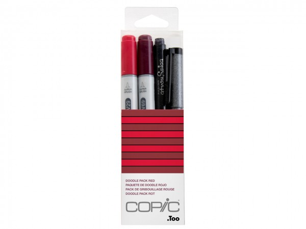 COPIC® ciao Marker 4er Set / Doodle Pack Red