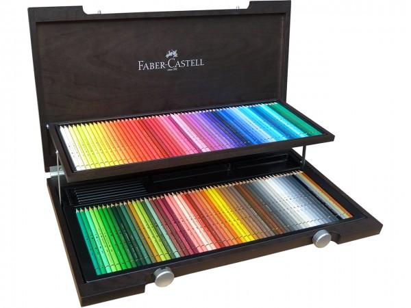 Farbstifte Polychromos, Set mit 120 Farben im Holzkoffer