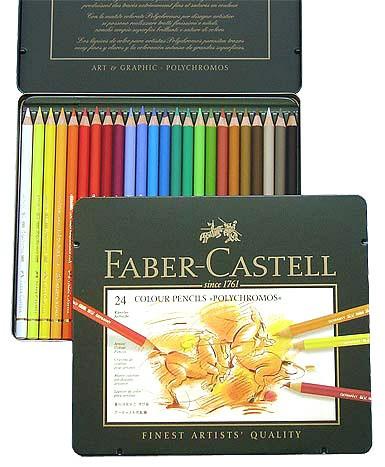 Farbstifte Polychromos, Set mit 24 Farben in einer Metallschachtel