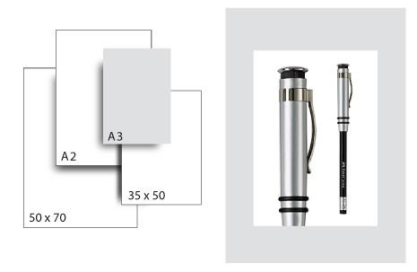 Präsentationskarton SeriTone 1 / Format A3 / 50 Bogen / hellgrau-weiss