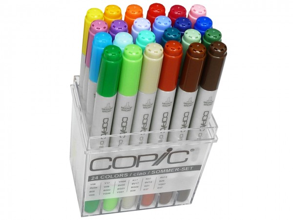 COPIC® ciao Marker, Set mit 24 Sommerfarben