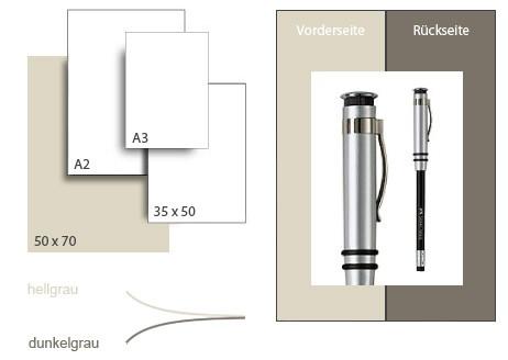 Präsentationskarton DuoChart 1 / Format 50 x 70 cm / 50 Bogen / hellgrau-dunkelgrau